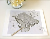 Special Order for Mia: Washington, DC Wedding Signature Map