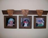 Unique Wood Triple Picture Frame