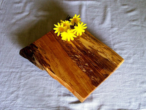 Beautiful Rustic Spalted Maple Footed Cutting Board / Serving Tray / Bread Board / Cheese Board / Center Piece