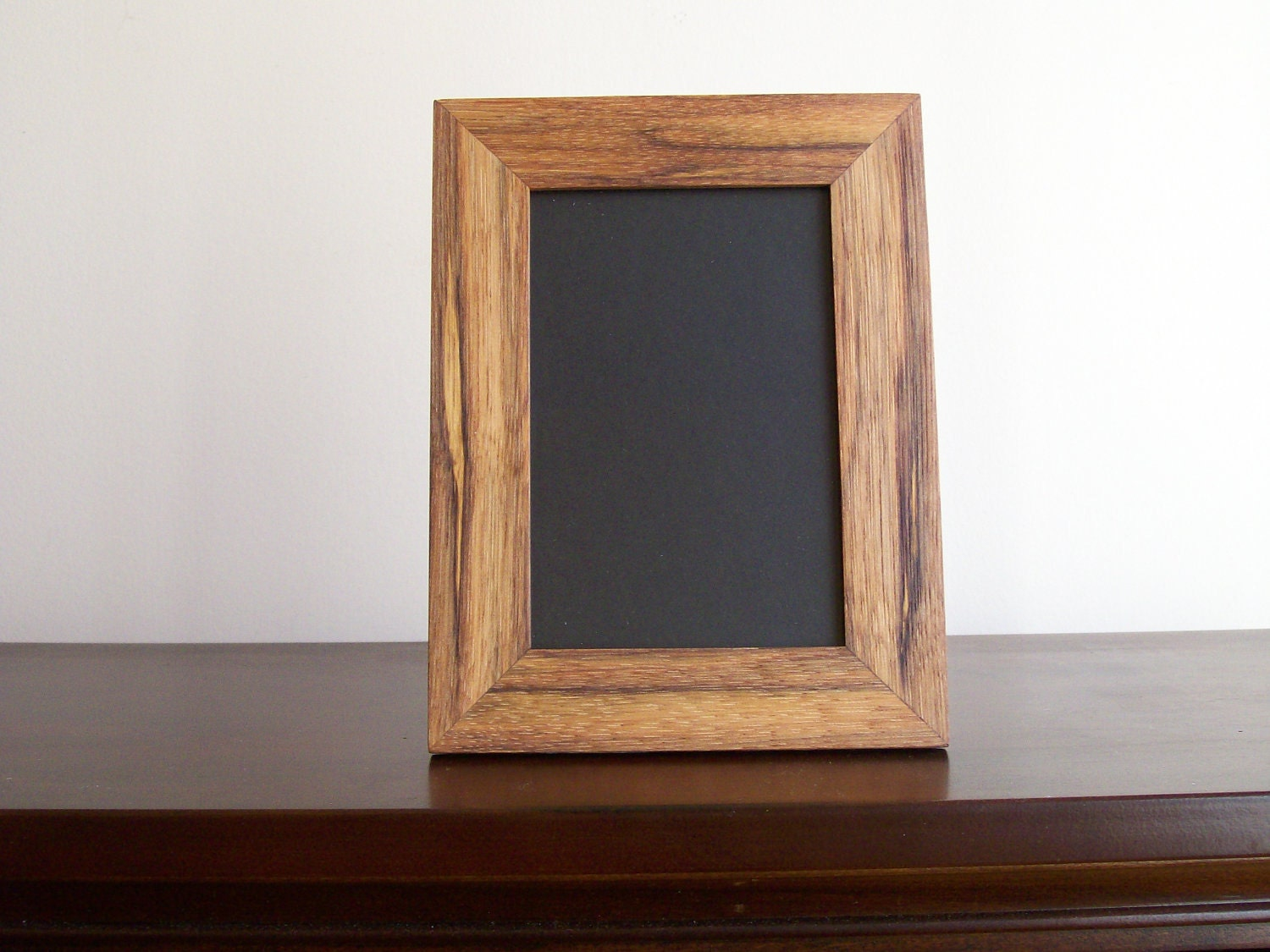 Complete 4x6 Hickory Wood Desk Wall Picture Frame