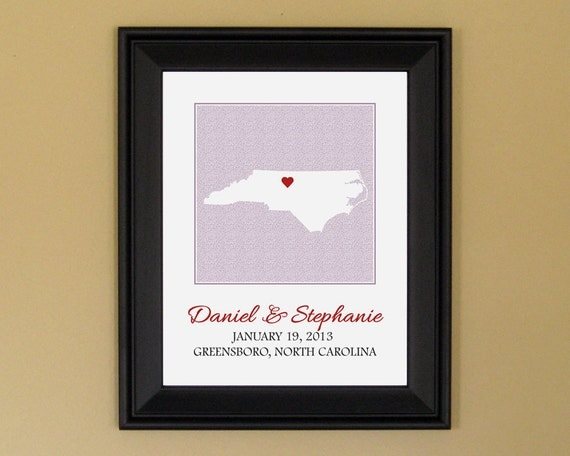 Gift For First Wedding Anniversary Couple: 1st Anniversary Wedding Gift For Couple By CedarHouseKeepsakes