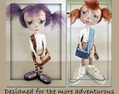 A Modern Annie, Cloth doll pattern