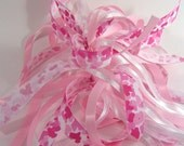 Pink Camo Ribbon Ponytail Streamer Handmade
