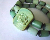 Green Lotus Flower Bracelet FREE SHIPPING