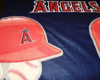 MLB Angels Blanket, Fleece Ties Blanket, Baseball Angels