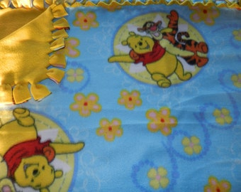 Disney's Winnie The Pooh Fleece Tie Blanket