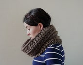 Infinity Cowl, Cowl Scarf, Cowl, Neckwarmer - The Seafarers in Taupe