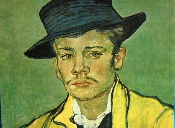 Vincent Van Gogh Print: Portrait of Armand Roulin, Young Man in Yellow Jacket KK