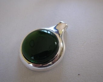 Beautiful Bright Green Glass Pendant