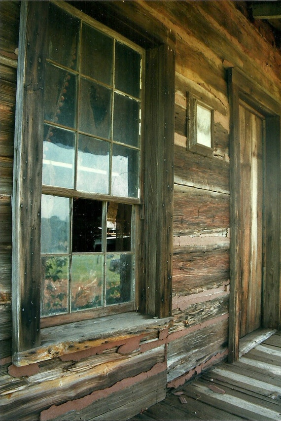 Items similar to old deserted georgia mountain log cabin for Windows for log cabins
