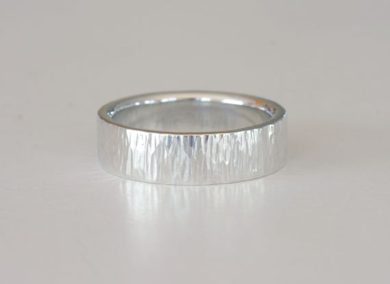 Size 8 hammered sterling silver ring band, number 146.