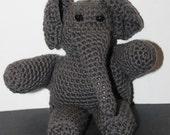 Crocheted Grey Elephant Stuffed Toy