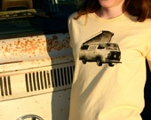 Womens T shirt - VOLKSWAGEN BUS - Hand Painted Made to Order