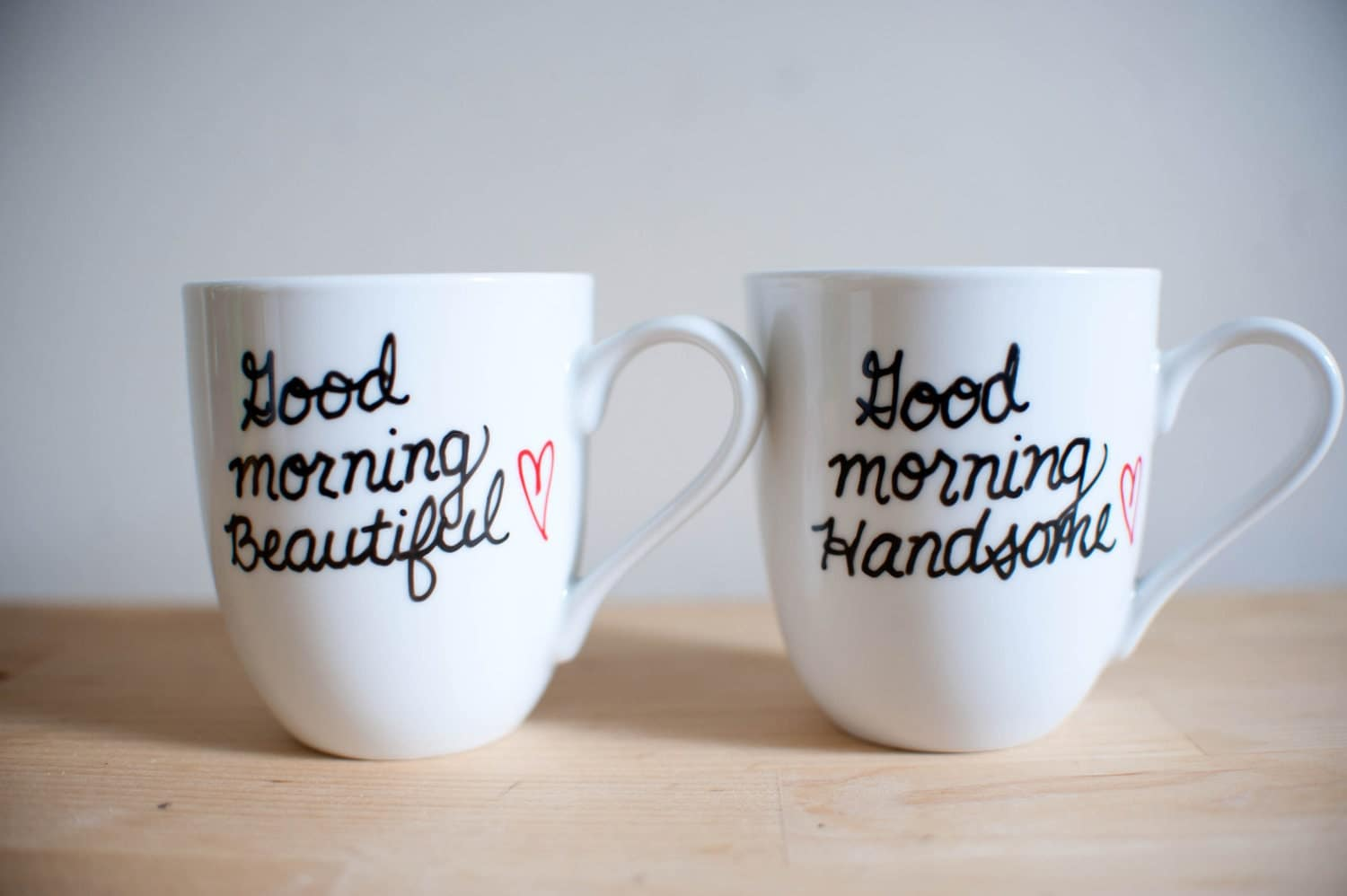 His Hers Coffee Mugs Good Morning Beautiful And