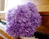 custom bridal bouquet // wedding bouquet // tissue paper flowers // ceremony // toss bouquet