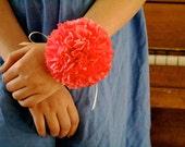 custom wedding corsage // tissue paper // flower // wrist corsage // wedding accessory // prom