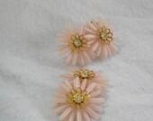 Retro Daisy Clip Earrings