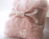 Dusting Powder Puff (puff only) Cotton Candy Pink  with Matching Silk Dupioni Handle