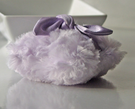 Dusting Powder Puff (puff only)  LAVENDER  with Matching Satin Handle
