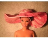 Pink Camo Barbie Beach Hat - Ready to be Shipped