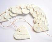 Wedding Favor,50 Wedding Thank you Tags, Decoration Love tags,Wedding Ceramic Tag