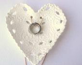 Wedding Ring Bearer  Pillow Alternative,Wedding Ring Dish,Vintage Ring Bearer Dish