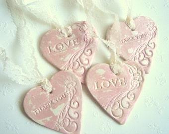 Wedding Hearts Favors, Vintage Favor Hearts,