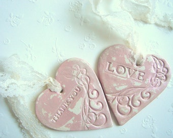 Wedding Favor Tag,Favor Thank you,Vintage Favor Tag, Hearts Tags,Baby Favor Tag, Shower Favor,