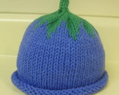 Hand Knitted Blueberry Hat