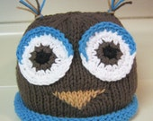 Hand Knitted Owl Hat