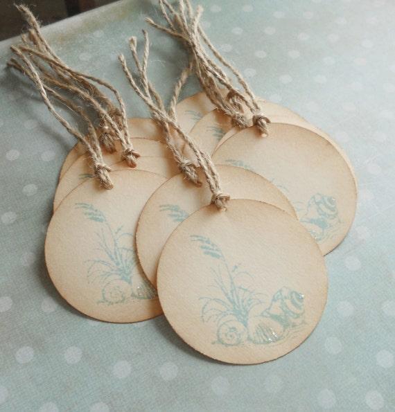 Beach Theme Wedding Photo Albums : Wedding wish tree tags seashell beach theme gift