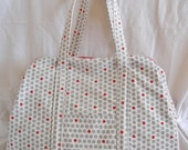 Ladybug cotton and linen weekend travel or workout bag