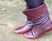 Vintage 1980's Brown Booties sz 6