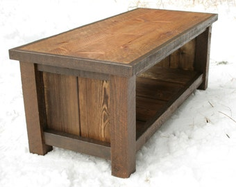 Rustic Reclaimed Bench Coffee Table