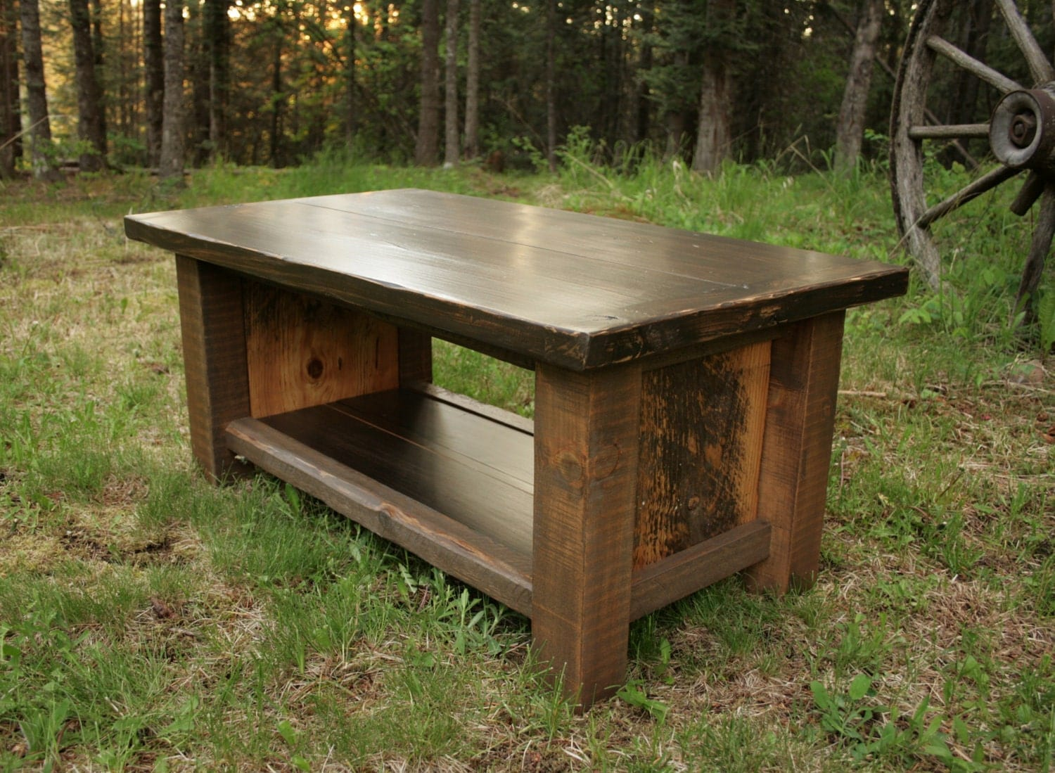 Rustic Modern Reclaimed Rectangle Coffee Table