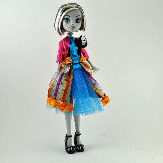 Monster High Dress - Frankie Stein in Carnival Colors