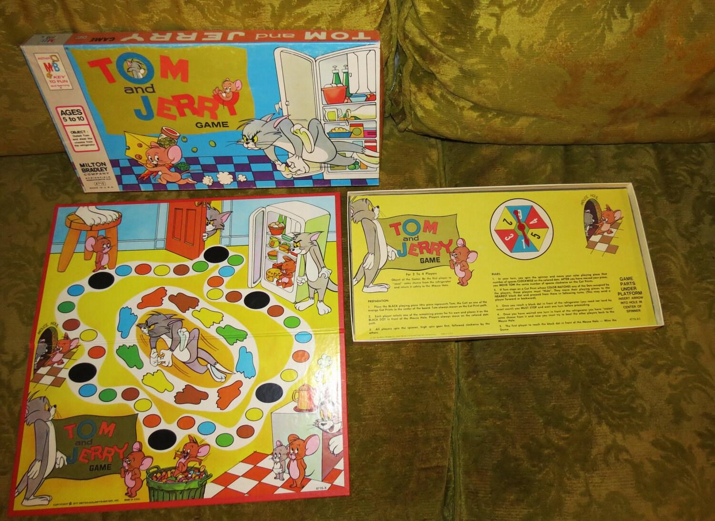1977 Tom & Jerry Children's Board Game Vintage