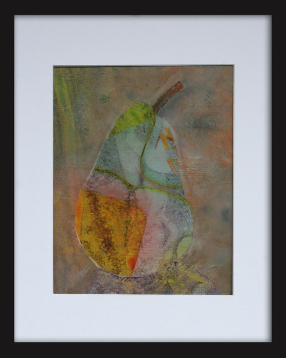 Modern Art Abstract Pear By Andymorrisart On Etsy