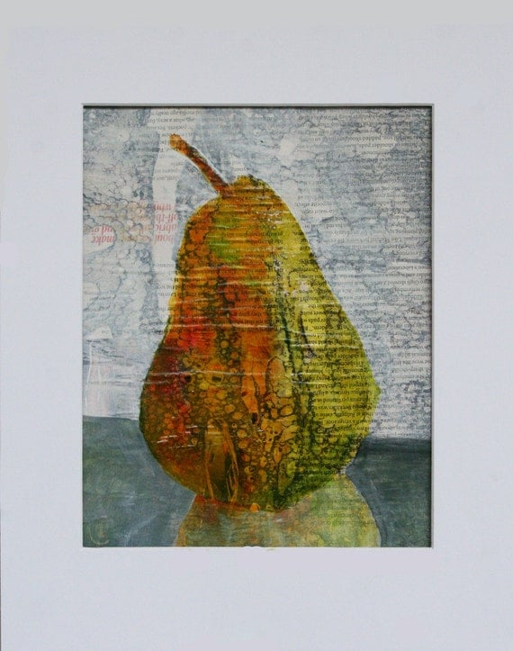 Modern Art Abstract Painting Of A Pear By Andymorrisart On