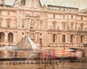 Floating pyramid at the Louvre 8x10 photograph.