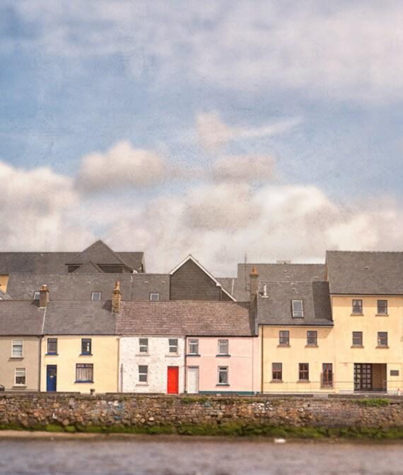 """The little red door in Galway Ireland 8""""X10"""" photograph."""