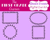 Doodled Digital Frames and Journal Tags --BUY 2, GET 1 FREE
