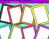 Polka Dot Frames and Border --BUY 2, GET 1 FREE
