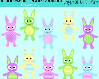 Easter Bunny Digital Clip Art Set -- BUY 2, GET 1 FREE