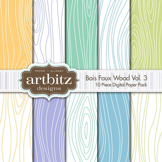 Bois vol 3 10 piece faux wood texture digital scrapbooking - Sticker imitation bois ...