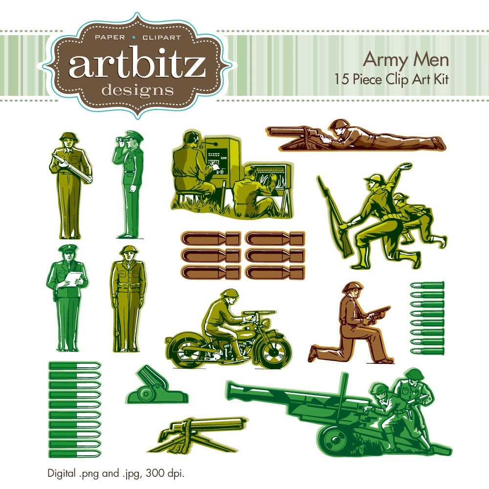 Army Men No. 13001 15 Piece Clip Art Kit 300 dpi .jpg and