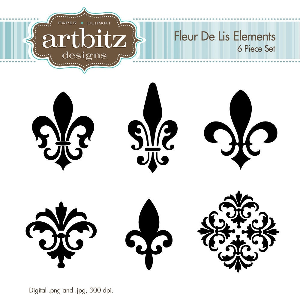 fleur de lis elements no 17001 clip art kit 300 dpi jpg. Black Bedroom Furniture Sets. Home Design Ideas