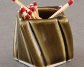 Porcelain MATCH HOLDER / Amber Celadon