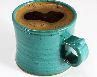 Stoneware MUG with TURQUOISE Satin Glaze