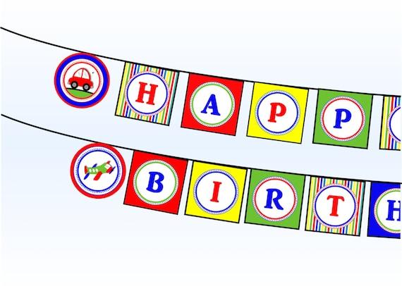 happy birthday signs printable